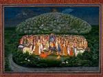 ഇന്ദ്രന്റെ കോപത്തിൽ നിന്നും രക്ഷപെടാൻ കൃഷ്ണൻ ചൂണ്ടുവിരലിലുയർത്തിയ പർവ്വതം