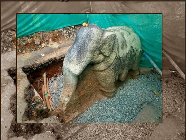 അജ്ഞാതശിൽപിയുടെ കരവിരുതുമായി പത്മതീർത്ഥക്കരയിലെ കല്ലാനശിൽപം