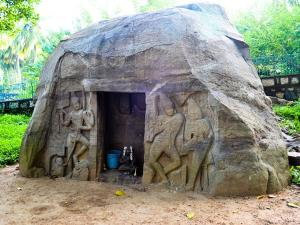Historically Important Vizhinjam Rock Cut Caves