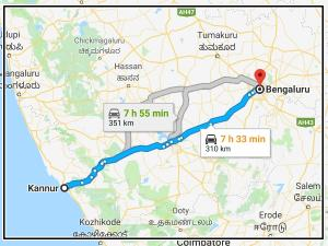 Easy Route From Kannur Bengaluru For Riders