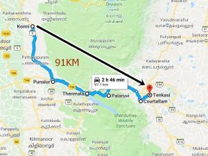 Konni To Tenkasi Travel Via Thenmala