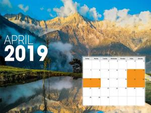 April 2019 Long Weekend Plan Your Trips In India Now