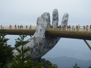 The Golden Bridge Vietnam Mystical Architectural Wonder Attractions And Specialties