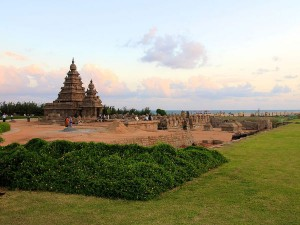 Scenic Beach Facing Temples South India