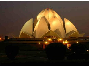 Night View Famous Buildings India