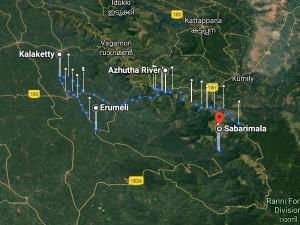 Sabarimala Yatra Through Kanana Patha Attractions Distance And Duration