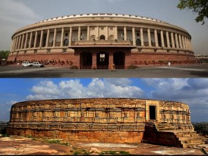 Chausath Yogini Temple Madhya Pradesh Temple Inspired The Design Of Indian Parliament