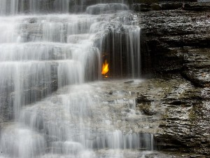 Eternal Flame Falls Chestnut Ridge Park In Western New York Attractions And Specialities